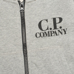 C.P. Company U16 Zip Hooded Goggle Children's Sweatshirt Grey photo- 2