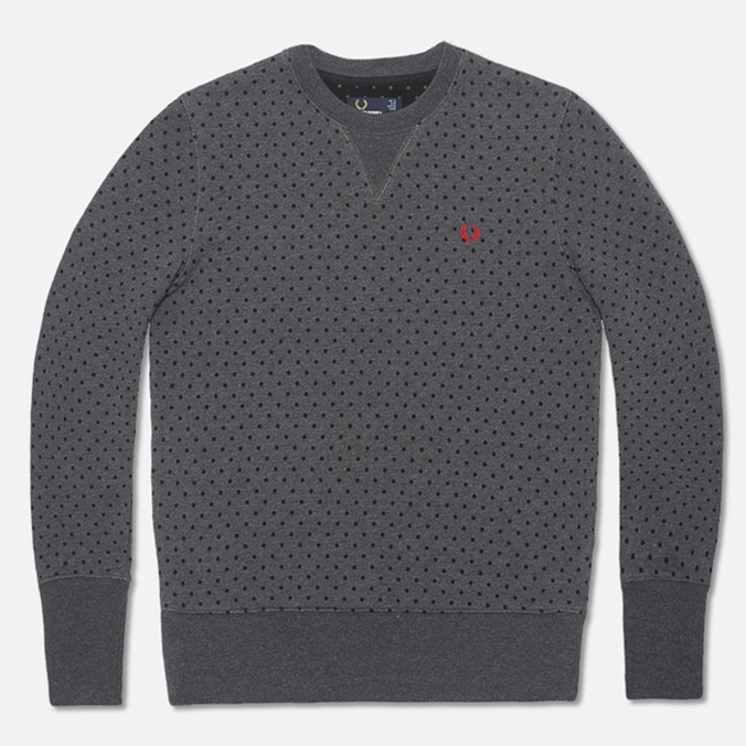 Женская толстовка Fred Perry Polka Dot Graphite Marl