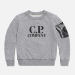 Детская толстовка C.P. Company U16 Fleece Crewneck Grey фото- 0