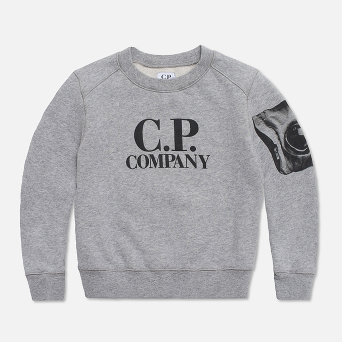 Детская толстовка C.P. Company U16 Fleece Crewneck Grey