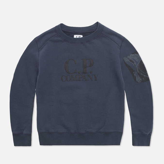 Детская толстовка C.P. Company U16 Fleece Crewneck Navy