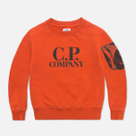 C.P. Company U16 Fleece Crewneck Children's Sweatshirt Orange photo- 0