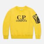 Детская толстовка C.P. Company U16 Fleece Crewneck Yellow фото- 0