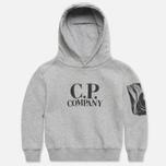 Детская толстовка C.P. Company U16 Goggle Print Hood Grey фото- 0