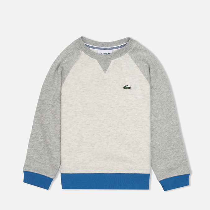 Детская толстовка Lacoste Color Block Lime/Paladium