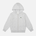 Детская толстовка Lacoste Zip Cotton Fleece Argent Chine фото- 0