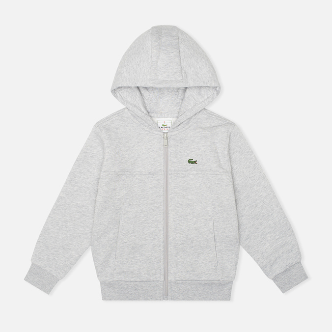 Детская толстовка Lacoste Zip Cotton Fleece Argent Chine