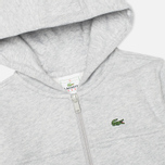 Детская толстовка Lacoste Zip Cotton Fleece Argent Chine фото- 1