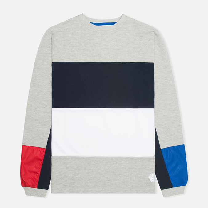 Мужская толстовка Kommon Universe Kelvin Crew Neck Grey/Navy/Red