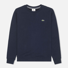 Мужская толстовка Lacoste Sport Crew Neck Solid Fleece Navy Blue фото- 0
