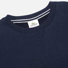 Мужская толстовка Lacoste Sport Crew Neck Solid Fleece Navy Blue фото- 1