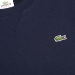 Мужская толстовка Lacoste Sport Crew Neck Solid Fleece Navy Blue фото- 2
