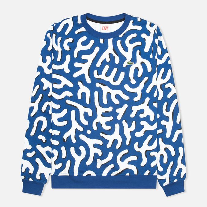Lacoste Live Cotton Print Men`s Sweatshirt Navy/Black/White