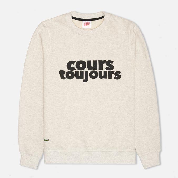 Lacoste Live Cours Toujours Print Sweatshirt Chine/Noir