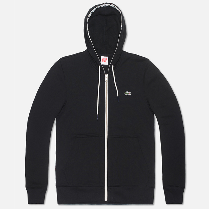 Мужская толстовка Lacoste Live Full Zip Hoody Black