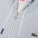 Мужская толстовка Lacoste Live Full Zip Hoody Grey фото- 3