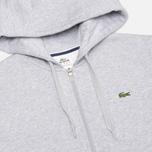 Мужская толстовка Lacoste Zip Argent Grey фото- 1