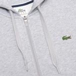 Мужская толстовка Lacoste Zip Argent Grey фото- 2