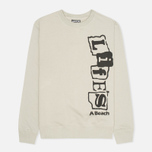 Life's A Beach Life Vert Men`s Sweatshirt Grey photo- 0