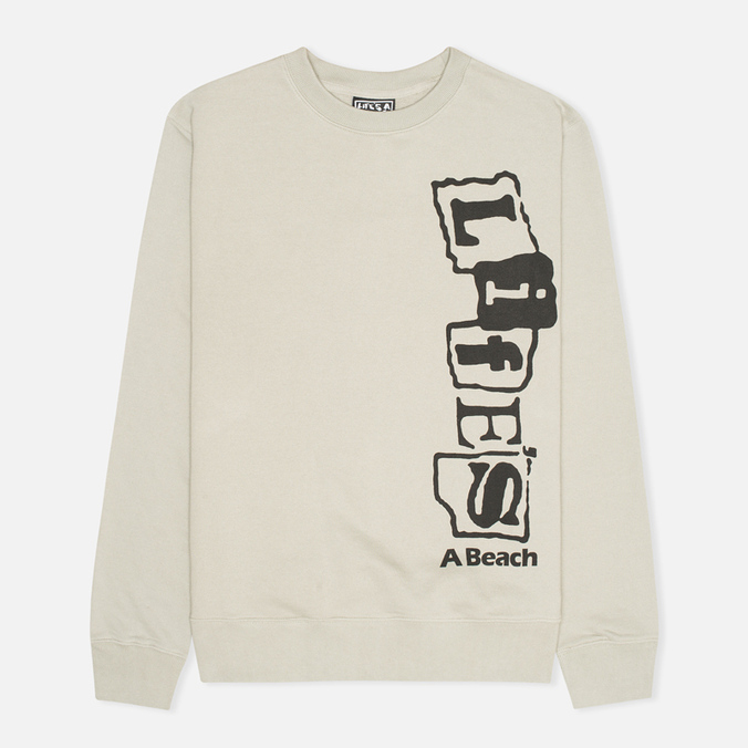 Life's A Beach Life Vert Men`s Sweatshirt Grey