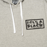 Life's A Beach Used Men`s Hoody Grey Melange photo- 2