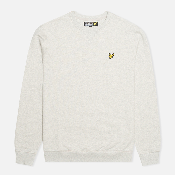Мужская толстовка Lyle & Scott Crew Neck Fleece Light Grey Marl