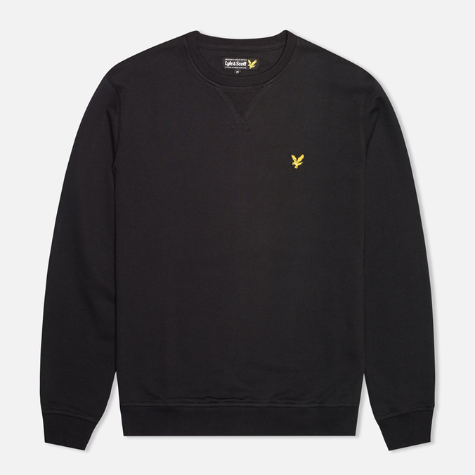 Мужская толстовка Lyle & Scott Crew Neck Fleece True Black
