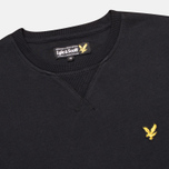 Мужская толстовка Lyle & Scott Crew Neck Fleece True Black фото- 1