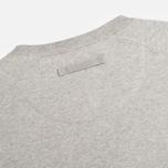 Мужская толстовка Maharishi Garment Dyed Crew Organic Loopback Grey Marl фото- 2