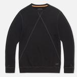 Maharishi V Flatlock Crew Sweatshirt Black photo- 0