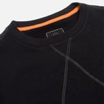 Maharishi V Flatlock Crew Sweatshirt Black photo- 1