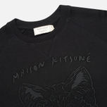 Maison Kitsune Crew Neck 3D Fox Embroidery Men`s Sweatshirt Black photo- 1