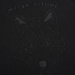 Мужская толстовка Maison Kitsune Crew Neck 3D Fox Embroidery Black фото- 3