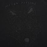 Maison Kitsune Crew Neck 3D Fox Embroidery Men`s Sweatshirt Black photo- 3