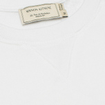 Мужская толстовка Maison Kitsune Crew Neck Tricolor Fox Chest Patch White фото- 2