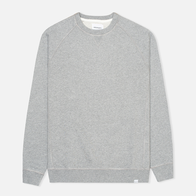 Мужская толстовка Norse Projects Ketel Crew Solid Brushed Light Grey Melange