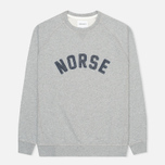 Мужская толстовка Norse Projects Ketel Logo Solid Brushed Light Grey Melange фото- 0