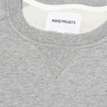 Мужская толстовка Norse Projects Ketel Logo Solid Brushed Light Grey Melange фото- 2