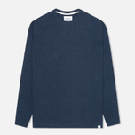 Мужская толстовка Norse Projects Thorbjorn Rib Jersey Blue Melange фото- 0