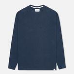 Norse Projects Thorbjorn Rib Jersey Men`s Sweatshirt Blue Melange photo- 0