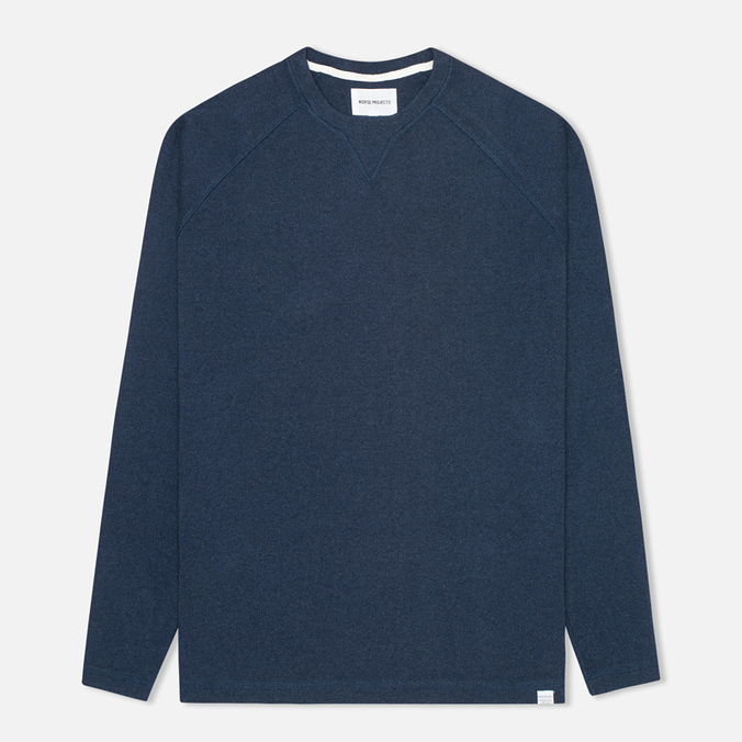 Мужская толстовка Norse Projects Thorbjorn Rib Jersey Blue Melange