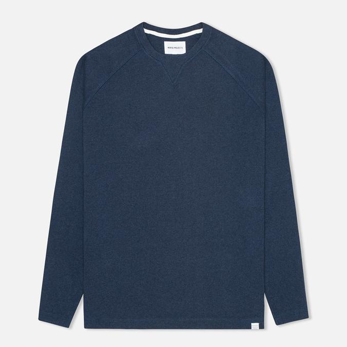 Norse Projects Thorbjorn Rib Jersey Men`s Sweatshirt Blue Melange