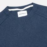 Norse Projects Thorbjorn Rib Jersey Men`s Sweatshirt Blue Melange photo- 1