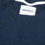 Norse Projects Thorbjorn Rib Jersey Men`s Sweatshirt Blue Melange photo- 2