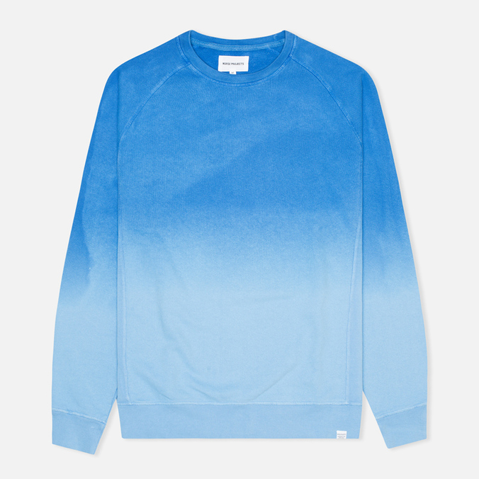 Мужская толстовка Norse Projects Vorm Brushed Indigo California Blue