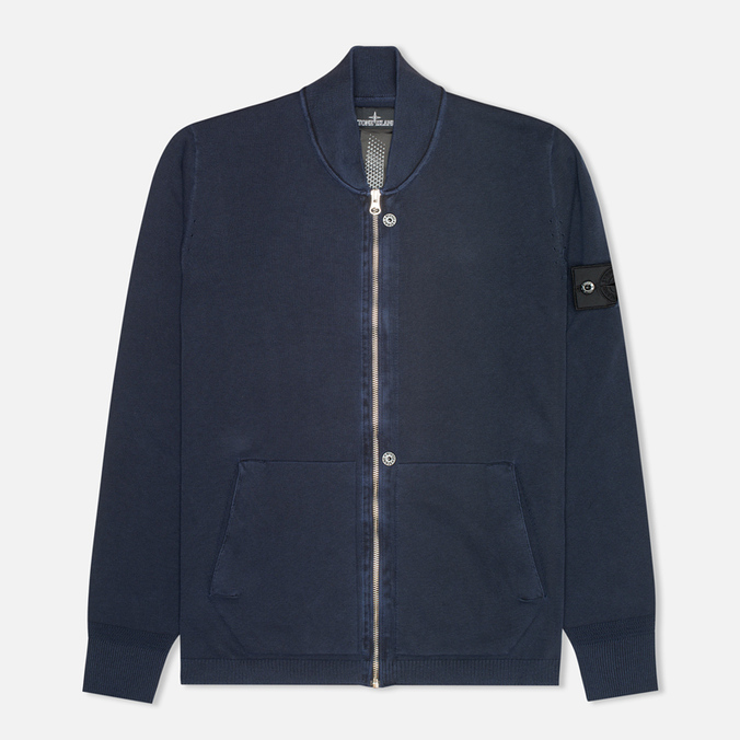 Мужская толстовка Stone Island Shadow Project Track Co Pigment Dye Navy