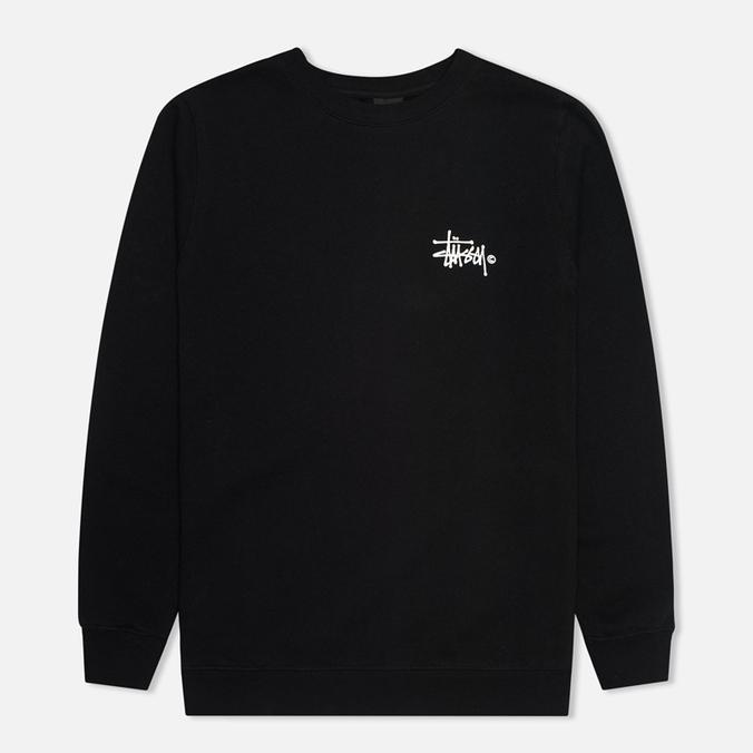 Мужская толстовка Stussy Basic Logo Crew Neck Black