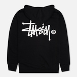 Stussy Basic Logo Graphic Print Men`s Hoody Black photo- 4
