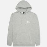 Мужская толстовка Stussy Basic Logo Graphic Print Grey Heather фото- 0