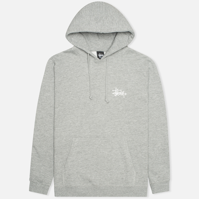 Мужская толстовка Stussy Basic Logo Graphic Print Grey Heather